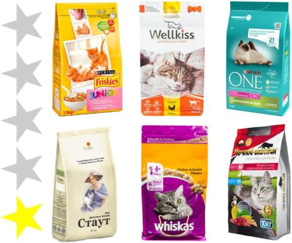 Эконом класс корма для кошек